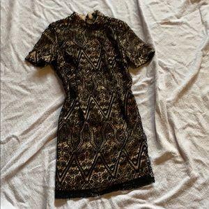 Black Lace Short Dress
